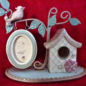 Bird House Ceramic Picture Holder NEW